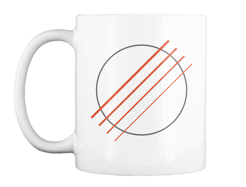 Low G/Baritone Ukulele Sound Hole Mug White Mug Front