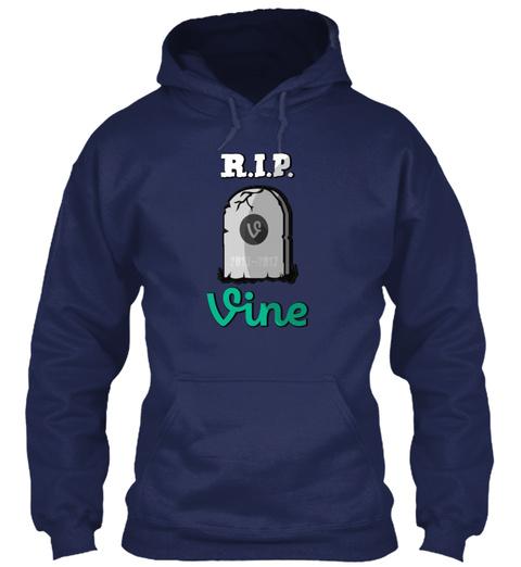 Rip Vine Navy T-Shirt Front
