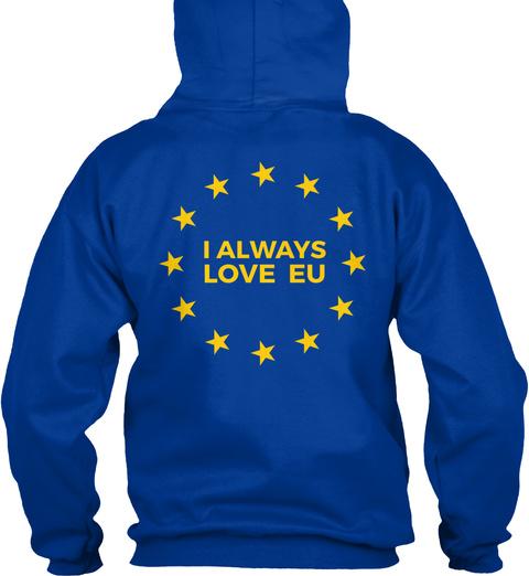 L Always Love Eu Royal Blue Sweatshirt Back