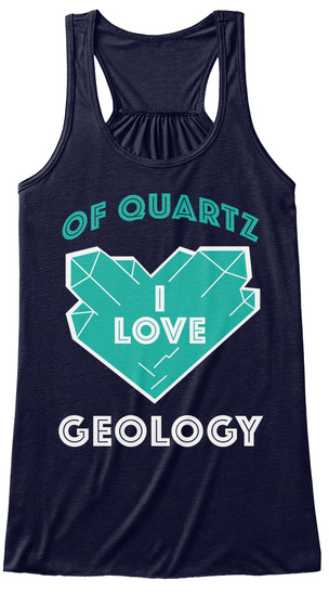 Of Quartz I Love Geology Midnight T-Shirt Front