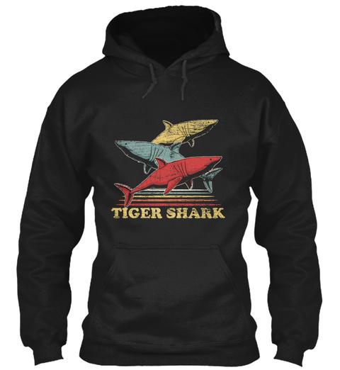 Tiger Shark Tropics Black T-Shirt Front