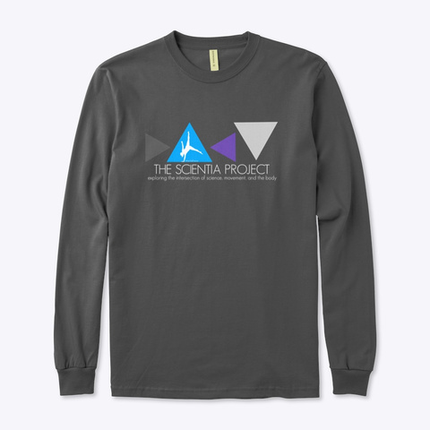 The Scientia Project Merchandise Charcoal T-Shirt Front