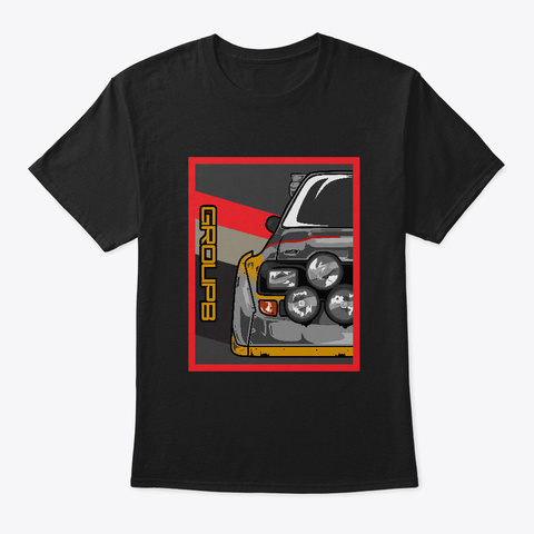 S1 Vintage Poster Style Black T-Shirt Front