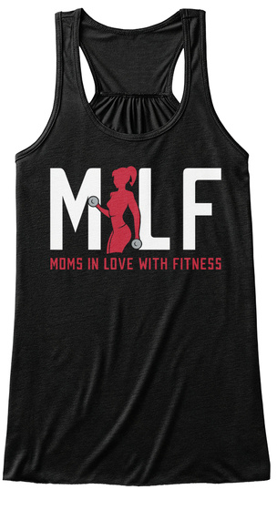 Mlf Moms In Love With Fitness Black Camiseta Front