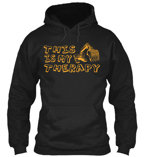 This Is My Therapy Black Sweatshirt Front