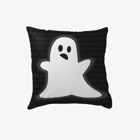 Halloween Throw Pillow Ghost Boo White T-Shirt Front