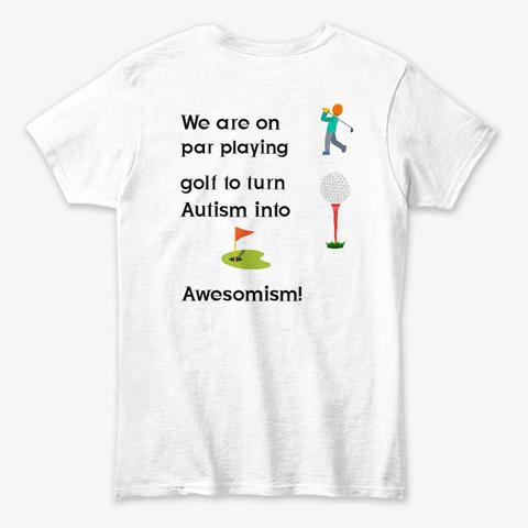 Awesomism Golfing White T-Shirt Back