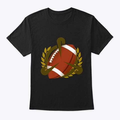 Football Art Black T-Shirt Front