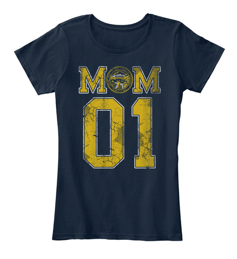 Nebraska Mom #1 Shirt New Navy T-Shirt Front