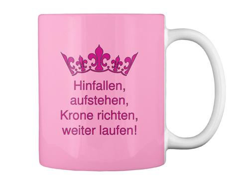Hinfallen, Aufstehen, Krone Richten, Weiter Laufen! Pink Camo T-Shirt Back