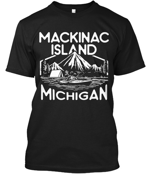 Mackinac Island Michigan Black T-Shirt Front