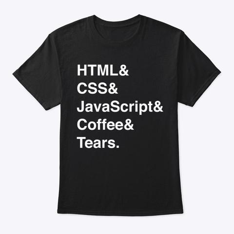 Website Ingredients Black T-Shirt Front