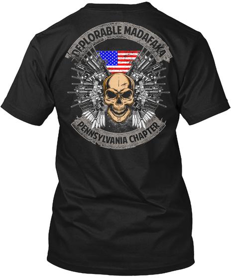Deplorable Madafaka Pennsylvania Chapter Black T-Shirt Back