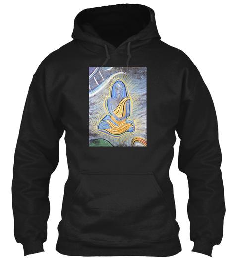 Babaji From Chalk Meditation 4 92 Black T-Shirt Front