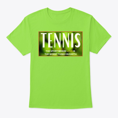 Tennis (Bad Love) Lime T-Shirt Front