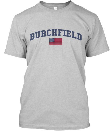 Burchfield Family Flag Light Steel T-Shirt Front