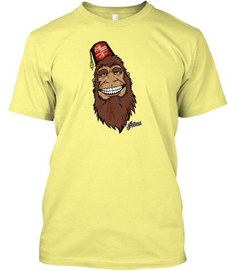 Karl The Florida Skunk Ape Lemon Yellow  T-Shirt Front