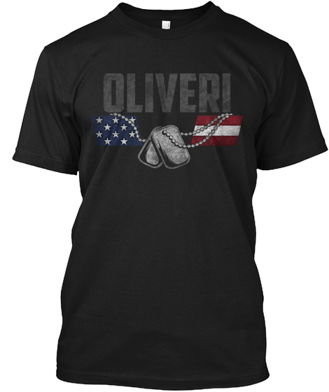 Oliveri Family Honors Veterans Black T-Shirt Front