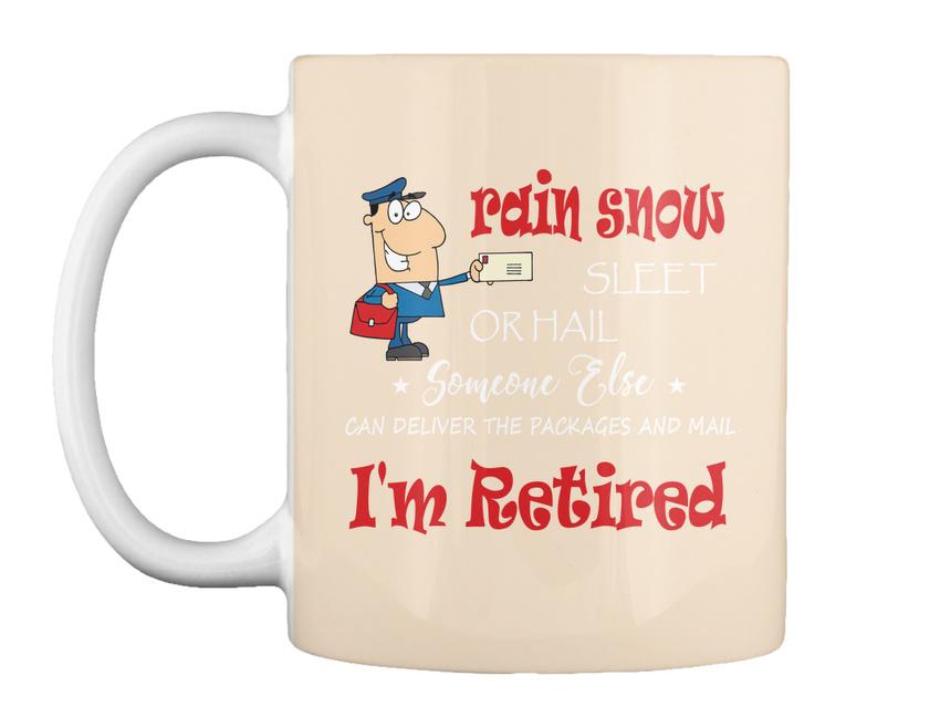 miniature 59 - Funny Retired Postal Worker Mailman Tee - Rain Suck Sleet Or Gift Coffee Mug