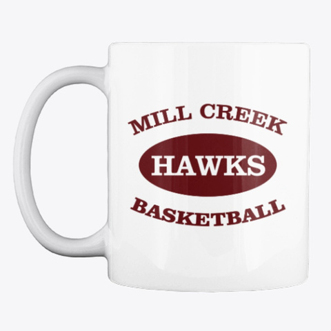 Mill Creek Hawks Basketball White Maglietta Front