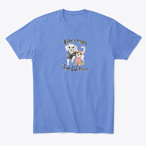 Wolfie's Legacy! Heathered Royal  T-Shirt Front