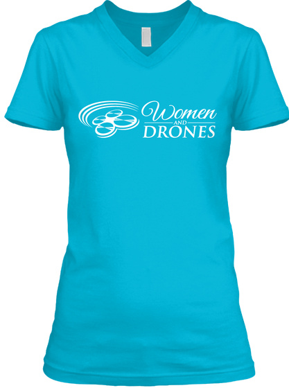 Women And Drones Turquoise T-Shirt Front