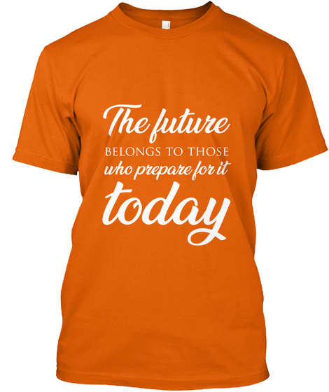 Kj Vids Quote Tee 8 Orange T-Shirt Front