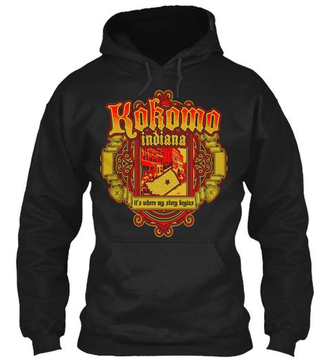 Kokoma Indiana It's Where My Story Begins Black T-Shirt Front