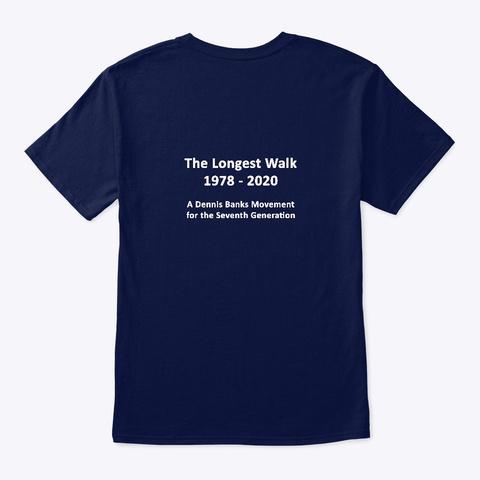 The Longest Walks Navy T-Shirt Back