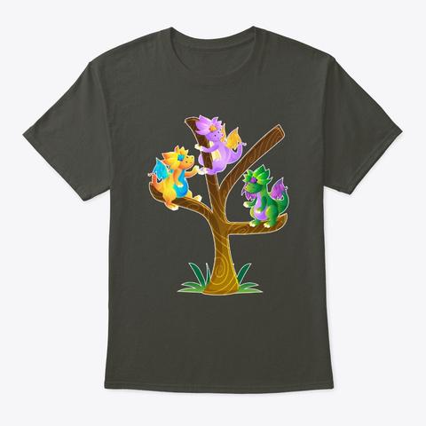 Dragon Tree D20 Dice Geek Tabletop Smoke Gray T-Shirt Front