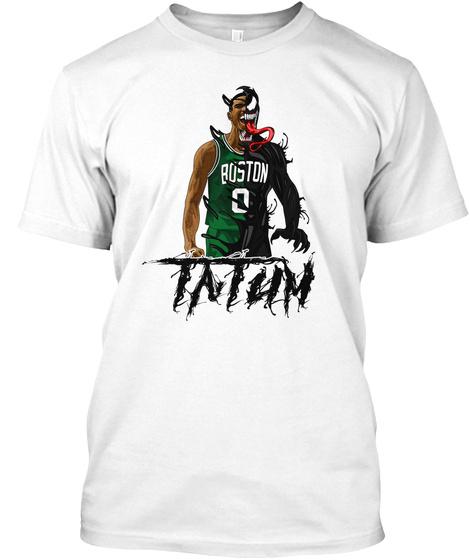 Boston 0 Tatum White T-Shirt Front