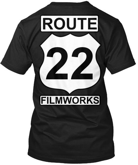 Route 22 Filmworks Black T-Shirt Back