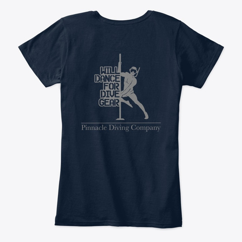 Pdc Will Dance Women's Shirt New Navy T-Shirt Back