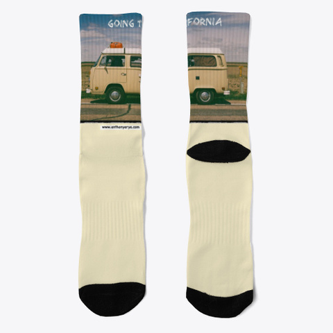 "Crew Sock: ""Going To California"" Light Yellow T-Shirt Front"