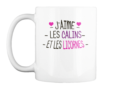 Mug   Calins Et Licornes White Mug Front