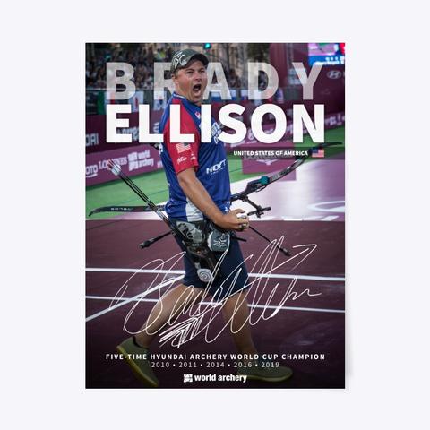 Brady Ellison Signature Poster 2019 Standard T-Shirt Front