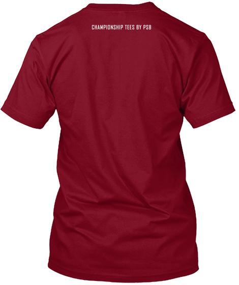I Am A Boxing Junkie  Cranberry T-Shirt Back