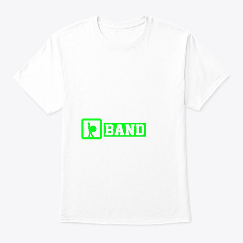 Eat Sleep Bass Drum Repeat   Marching Ba White T-Shirt Front