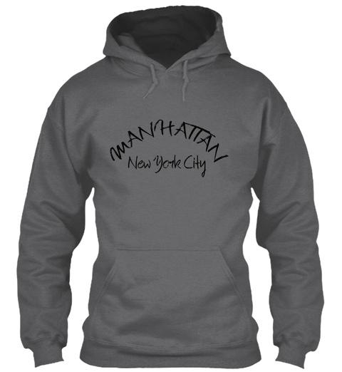 Man Hattan New York City Dark Heather Kaos Front