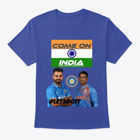 Cheer The Team India @Mr.Technology&Arts Deep Royal T-Shirt Front