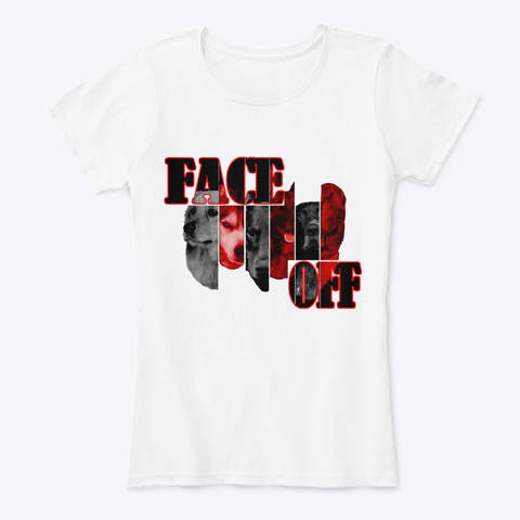 Face Off White T-Shirt Front