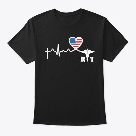 Radiologic Technologist Heartbeat Shirt Black T-Shirt Front