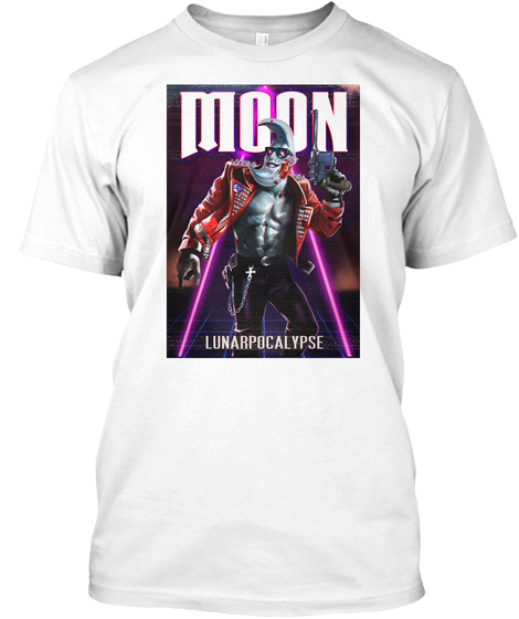 Lunar Apocalypse White T-Shirt Front