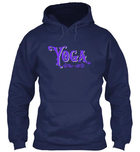 Yoga Purple Navy T-Shirt Front