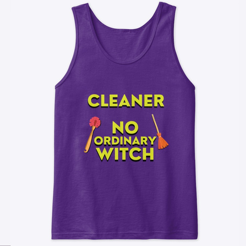 No Ordinary Witch Housekeeping Humor Purple T-Shirt Front