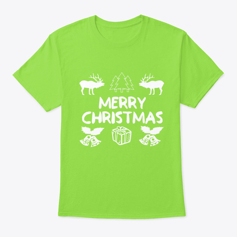 Christmas Gift Animal Festival Love Win Lime T-Shirt Front