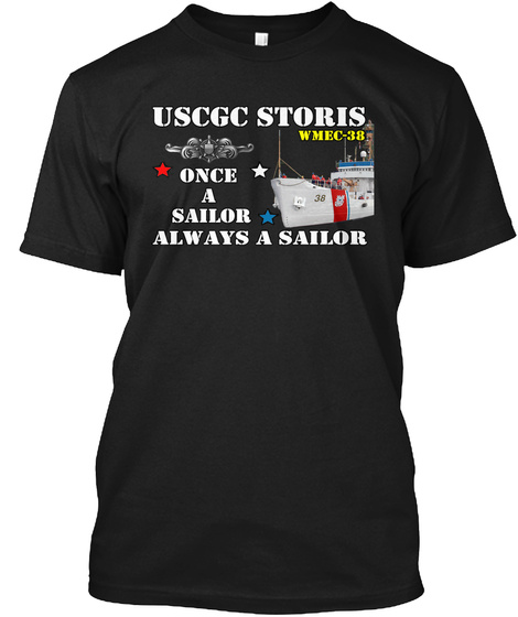 Uscgc Storis Design 2 Black T-Shirt Front