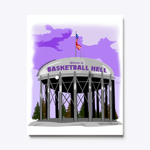 Welcome To Basketball Hell Canvas Print Standard T-Shirt Front