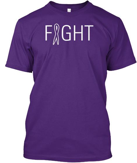 Fight Purple T-Shirt Front