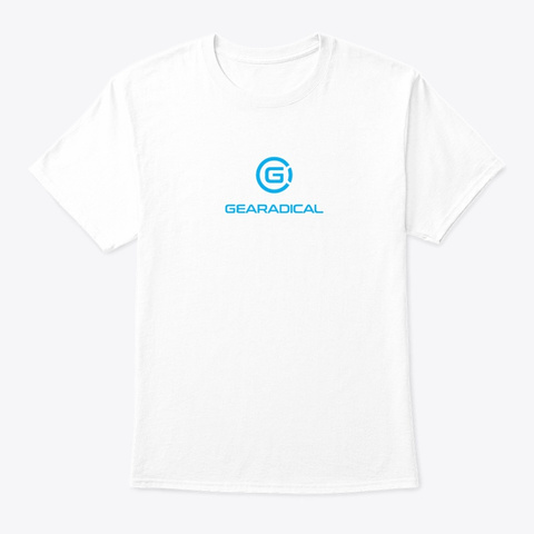Gearadical Classic T Shirt White T-Shirt Front